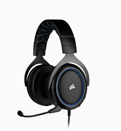 Corsair HS50 PRO Blue STEREO Gaming Headset, 50mm neodymium speaker