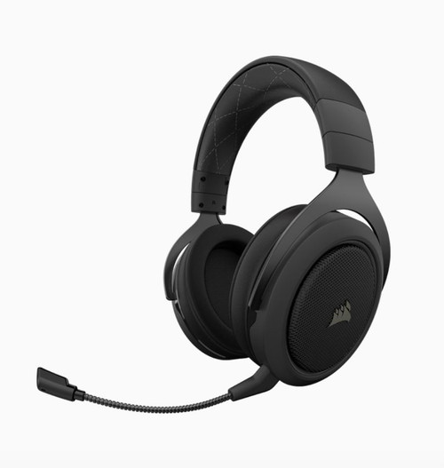 Corsair HS70 Pro Wireless Gaming Headset Carbon. 7.1 Sound, Up to 16hr