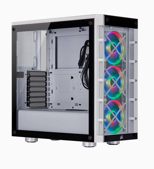 Corsair  iCUE 465X RGB WHITE (LL120 RGB Fan) Mid-Tower ATX Smart Case