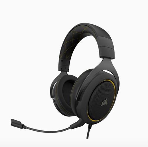 Corsair HS60 PRO Black/Yellow Trim STEREO 7.1 Surround Gaming Headset,