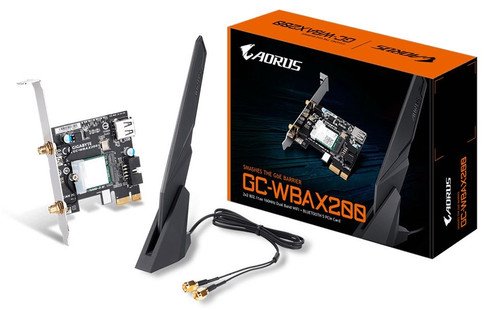 Gigabyte GC-WBAX200 WiFi 6 PCIe Adapter 2400Mbps 160MHz Dual Band Wire