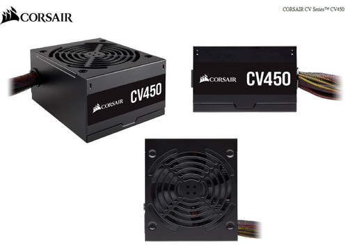Corsair 450W CV Series CV450, 80 PLUS Bronze Certified Power Supply