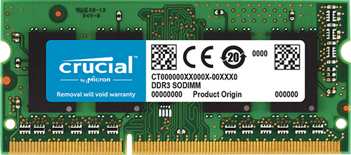 Crucial DDR3 4GB 1866 MT/s (PC3-14900) CL11 SODIMM 204pin 1.35V/1.5V