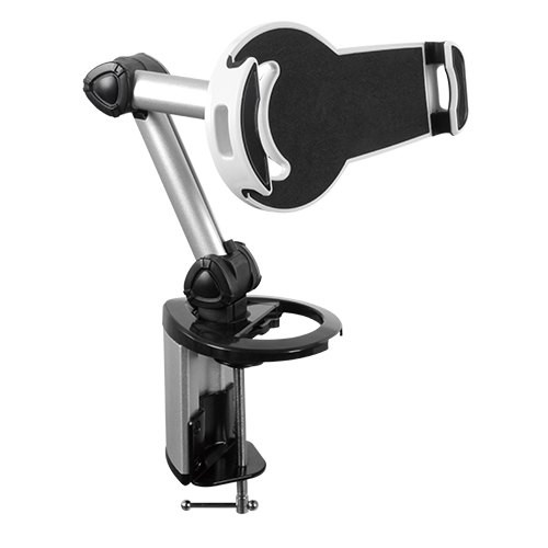 Brateck 2-IN-1 Aluminum Tablet Desk Clamp Holder (Desk Stand/Wall Moun