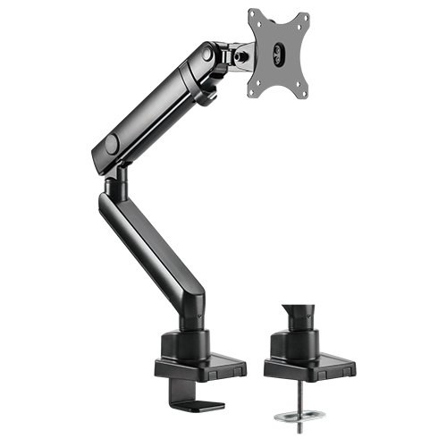 Brateck Single Monitor Aluminum Slim Mechanical Spring Monitor Arm For