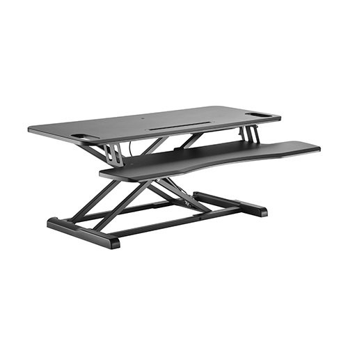 Brateck Gas Spring Sit-Stand Desk Converter with Keyboard Tray Deck