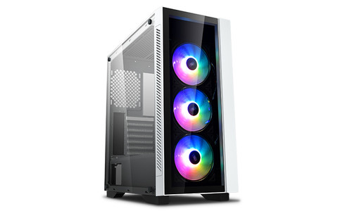 Deepcool MATREXX 55 V3 ADD-RGB WH 3F Tempered Glass Case, White Colour
