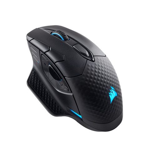 Corsair DARK CORE RGB PRO Gaming Mouse, 18000 DPI, 2000Hz Ultra Polling Zero Latency.