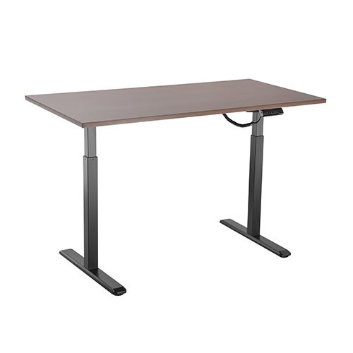 Brateck 2-Stage Single Motor Electric Sit-Stand Desk Frame with button Control Panel-White Colour (FRAME ONLY); TP18075 for the Borad