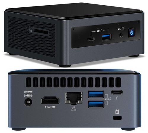 Intel NUC mini PC i5-10210U 4.2GHz 2xDDR4 SODIMM 2.5' HDD M.2 SATA/PCIe SSD HDMI USB-C (DP1.2) 3xDisplays GbE LAN WiFi BT 5xUSB Digital Signage POS