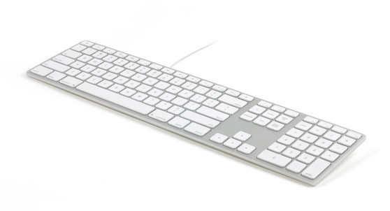 Matias White/Silver Wired Aluminium Keyboard for Mac