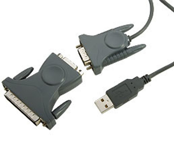 SKYMASTER USB TO SERIAL CABLE (DB9 DB25 ) IEEE 1284 RS232