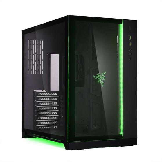 Lian Li PC-O11 Dynamic Black Case Tempered Glass Window no PSU - Razer Edition