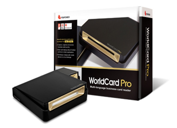WorldCard Pro is an ergonomic and creative business card scanner