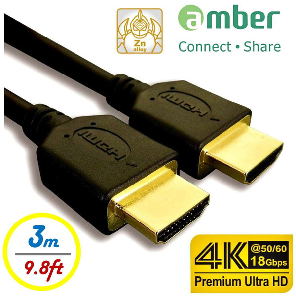 Amber HDMI-AA130  HDMI Cable A-A 3M For 4K Ultra Hd