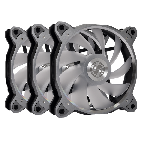 Lian Li Accessory BORAD120RGB-3G Bora Digital 120mm Fan RGB, 3 PCS, Space Gray