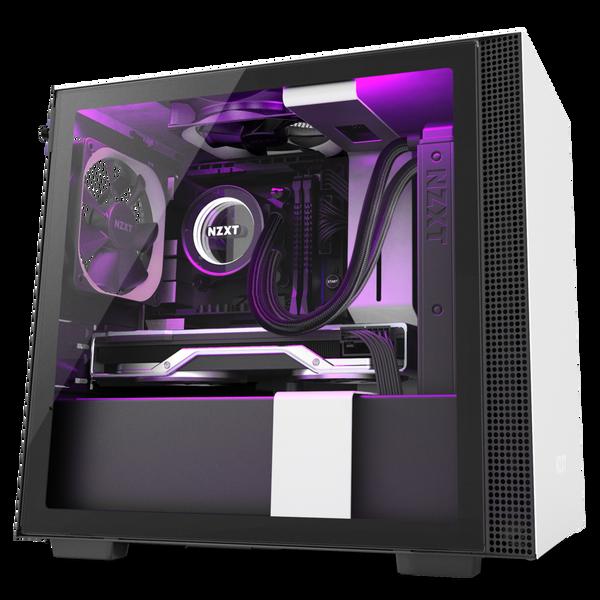 Mini-ITX Tower: Matte White/Black H210i mini Tower Chassis (Smart Devi