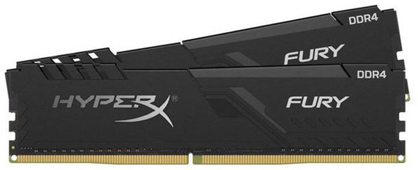 DUAL CHANNEL : 16GB 2666MHz DDR4 CL16 DIMM (Kit of 2) 1Rx8 HyperX FURY