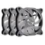 Lian Li Accessory BORAD120RGB-3G Bora Digital 120mm Fan RGB, 3 PCS, Space Gray