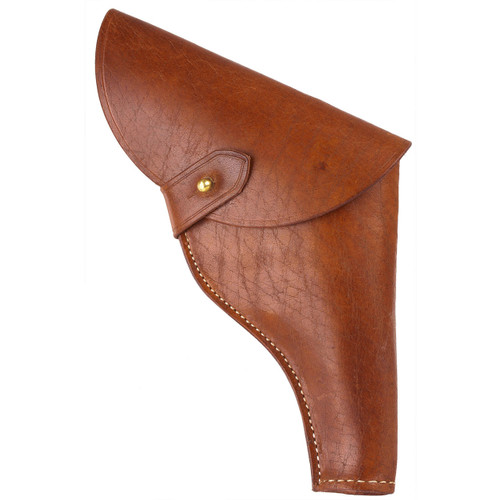 """Our exclusive leather flap holster, copied from the one worn by Harrison Ford in """"Raiders of the Lost Ark"""""""