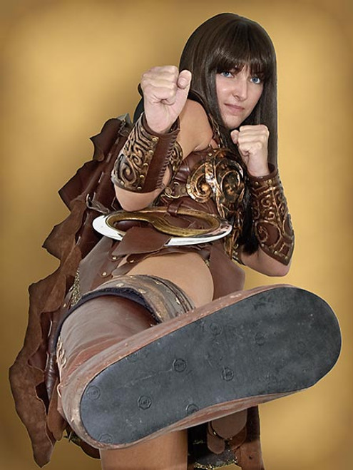 Princess Xena Custom Boots
