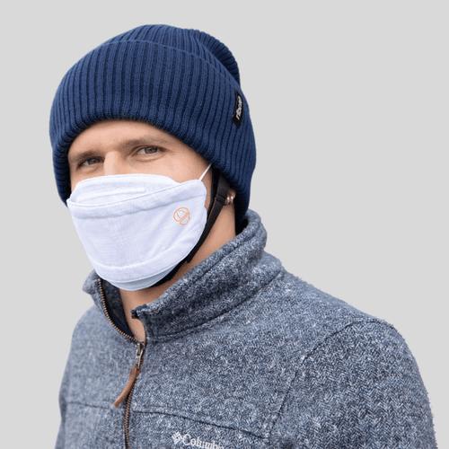 Premium wit modieus · Herbruikbaar · 2-laags Mondmasker - Ribcap