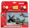Airfix A55107 North American Mustang IV Starter Set 1:72 Scale Model Kit