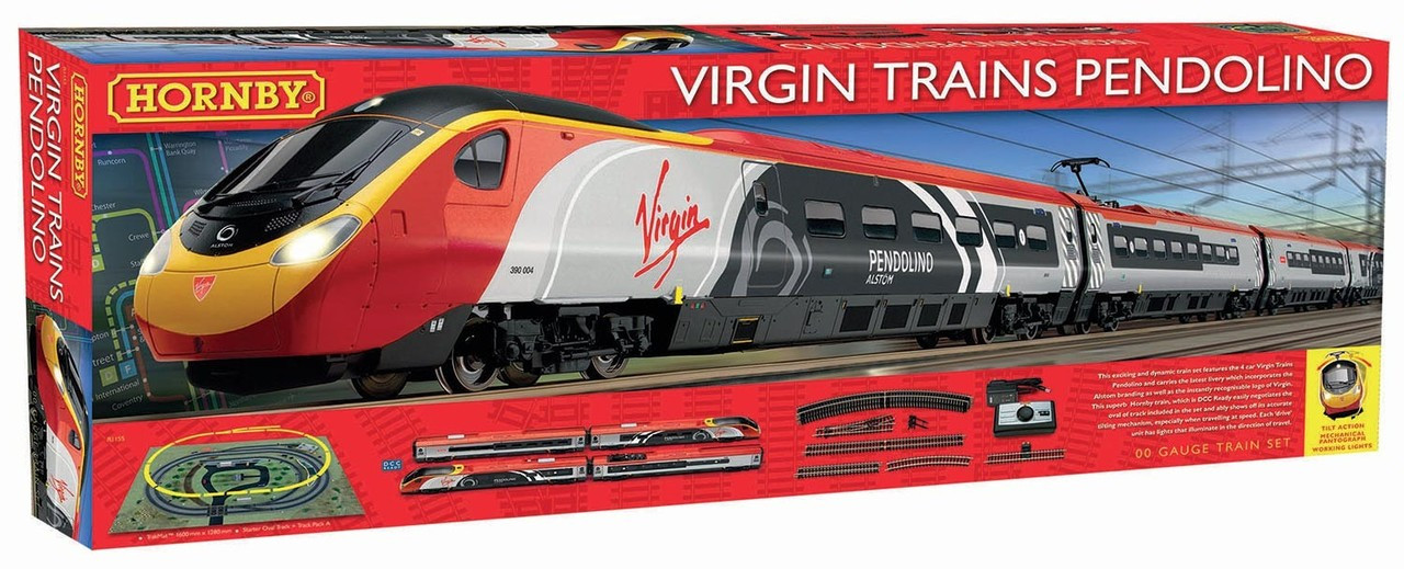 Hornby R1155 Virgin Trains Pendolino Train Set 00 Scale
