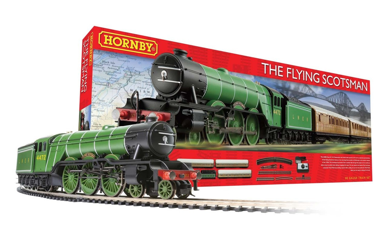 Hornby R1167 Flying Scotsman Set (Three Coaches) Train Set 00 Scale