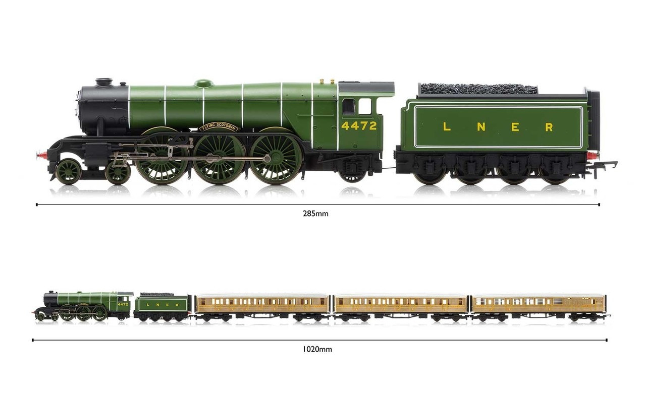 Hornby R1167 Flying Scotsman Set (Three Coaches) Train Set 00 Scale (R1167)