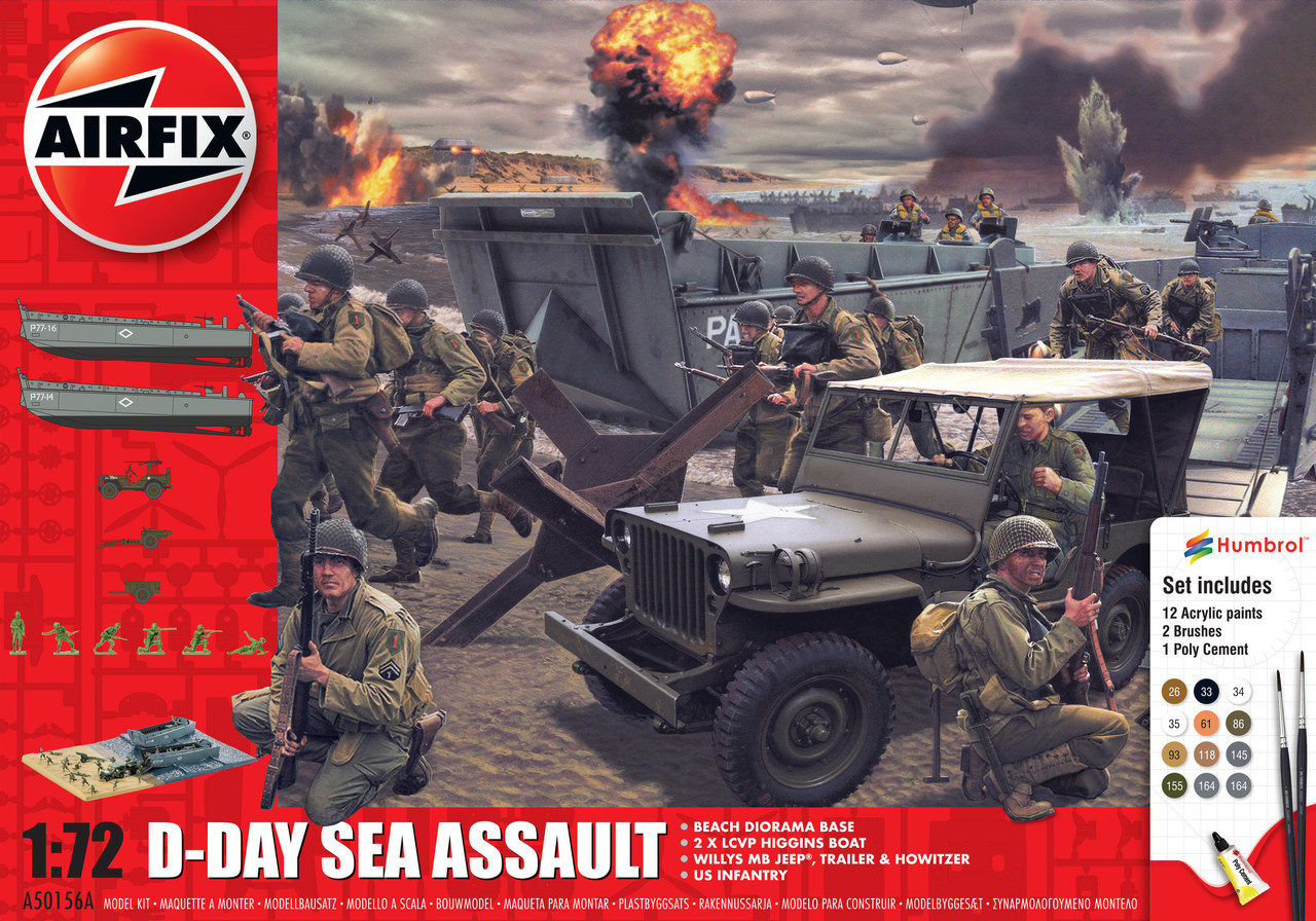 Airfix A50156 D-Day Sea Assault Gift Set 1:72 Scale Model Kit