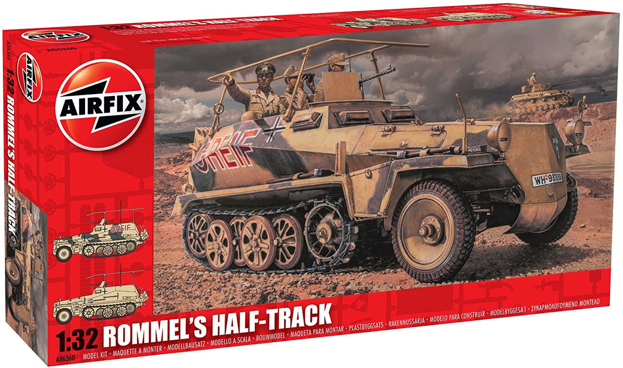 Airfix A06360 Rommel's Half Track 1:32 Scale Model Kit