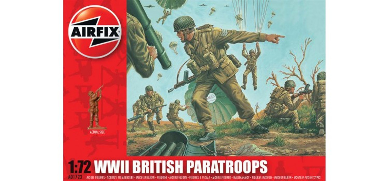 Airfix A01723 WWII British Paratroops 1:72 Scale Model Figures