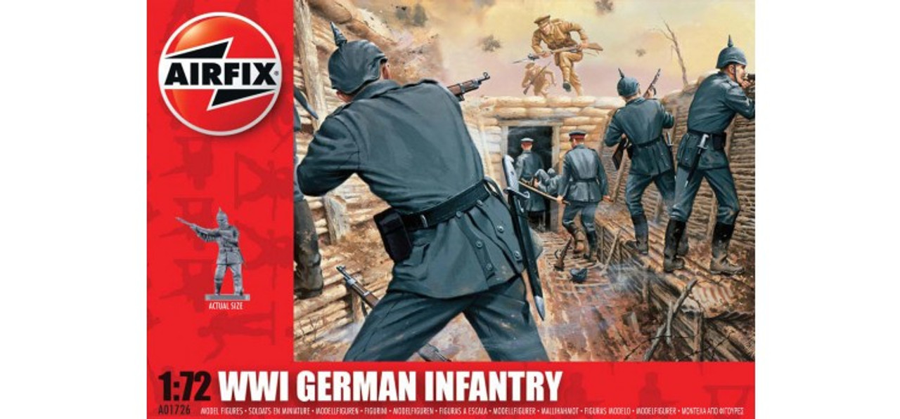 Airfix A01726 WWI German Infantry 1:72 Scale Model Figures