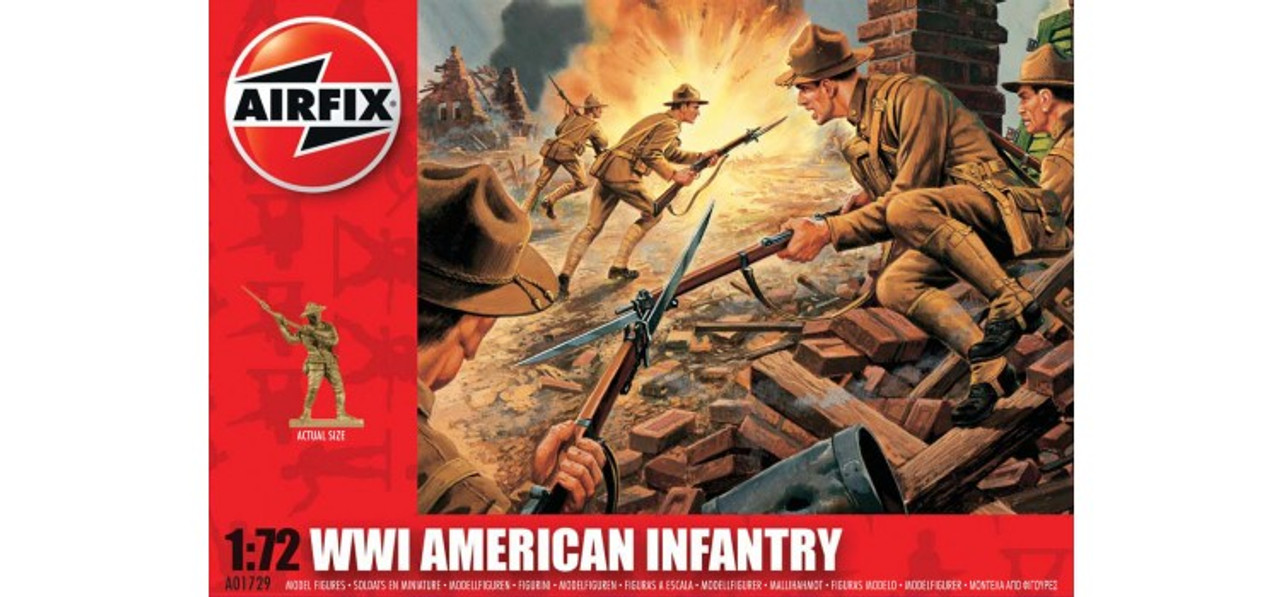 Airfix A01729 WWI American Infantry 1:72 Scale Model Figures