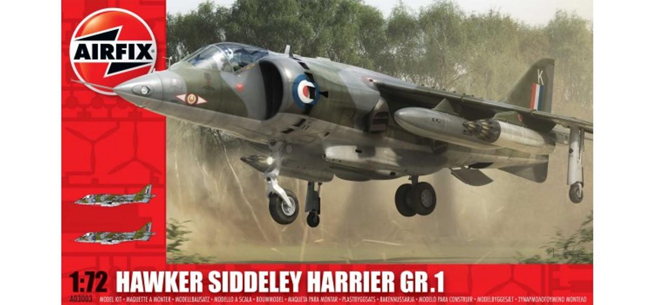 Airfix A03003 Hawker Siddeley Harrier GR1 1:72 Scale Model Kit