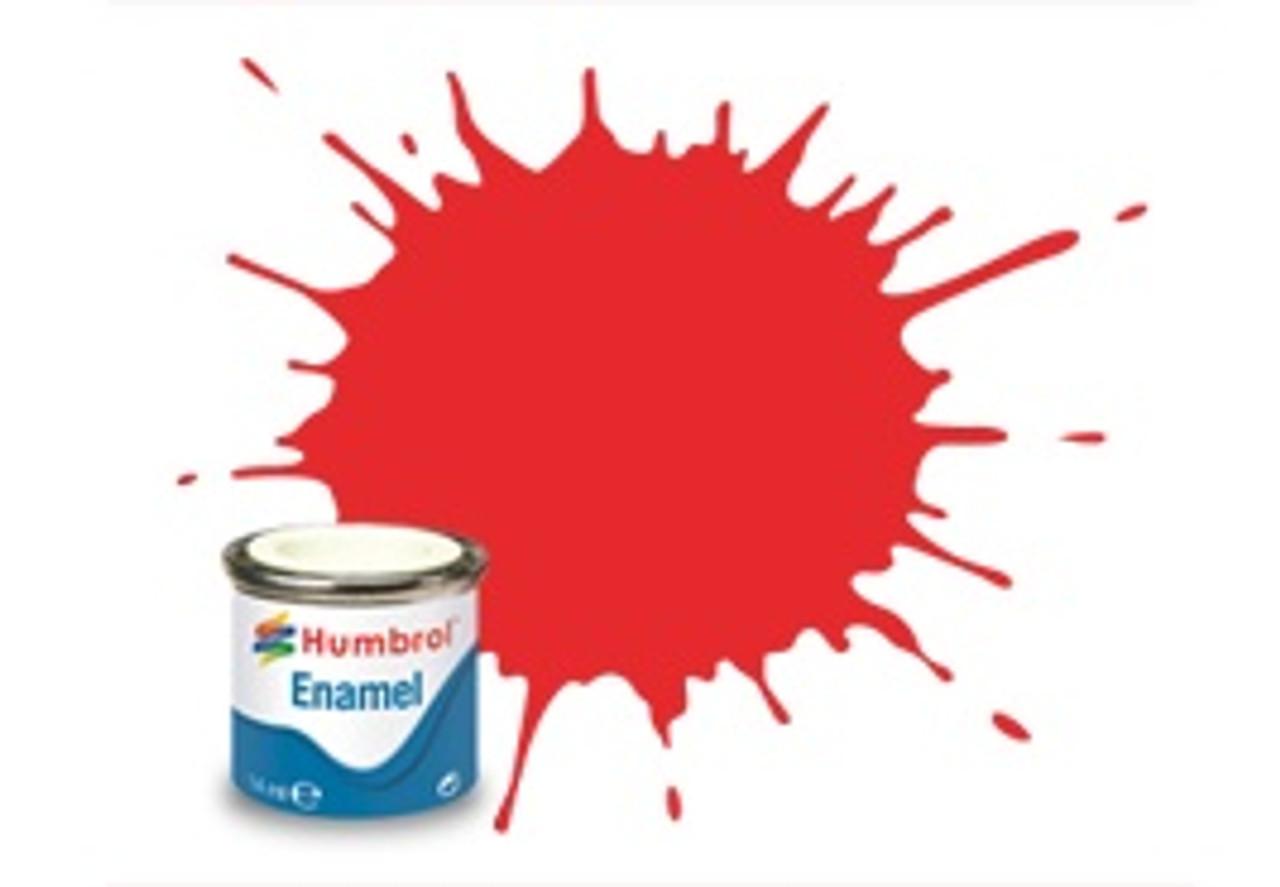 Humbrol Enamel Paint 209 Fluorescent Fire Orange G