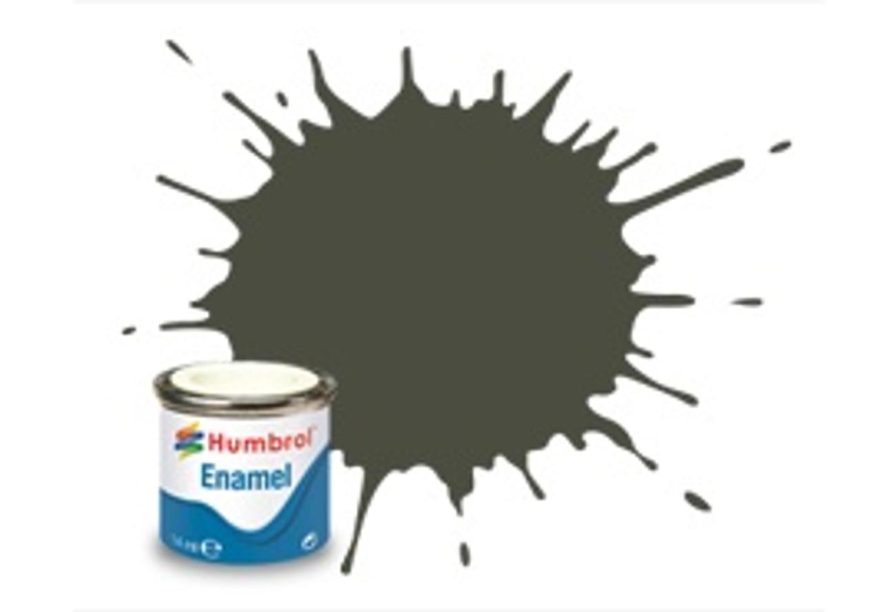 Humbrol Enamel Paint 253 RLM 83 Dunkel Grun Matt 1