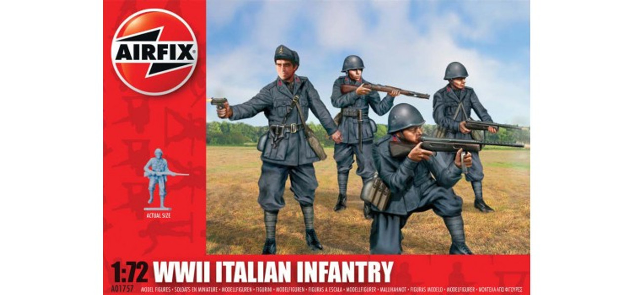 Airfix A01757 WWII Italian Infantry 1:72 Scale Model Figures