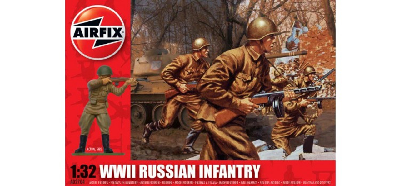 Airfix A02704 WWII Russian Infantry 1:32 Scale Model Kit