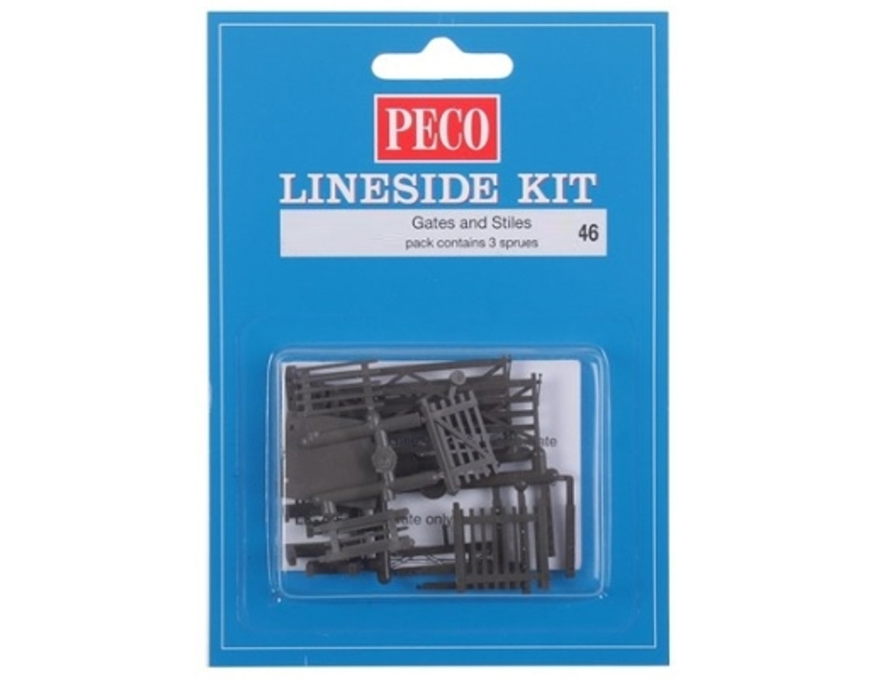Peco NB-46 Lineside Kits 3 Field Gates, 3 Stiles a