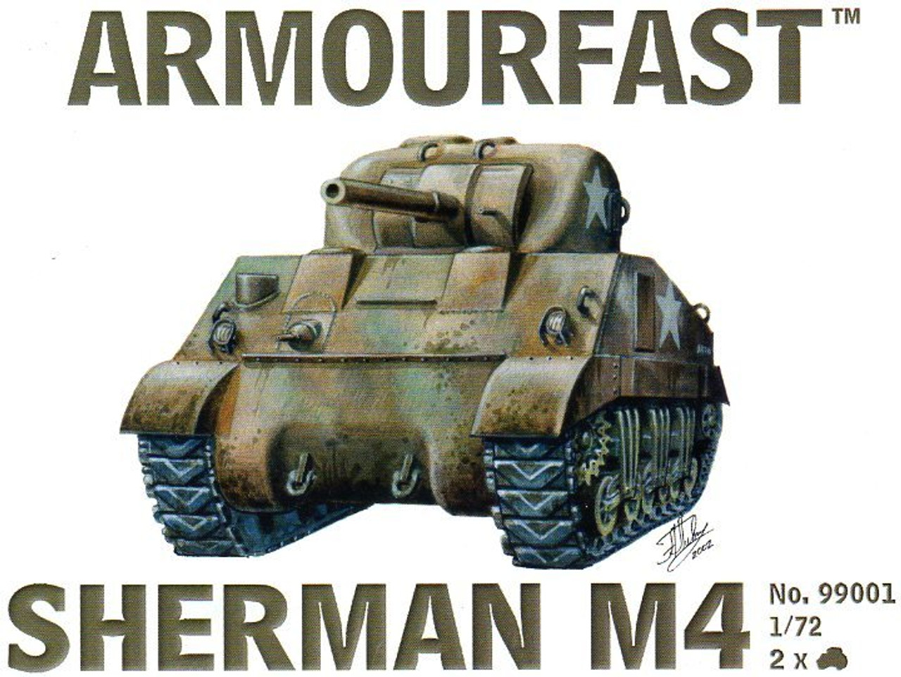 Armourfast 99001 Sherman M4 1:72 Scale Model Kit (AF99001)