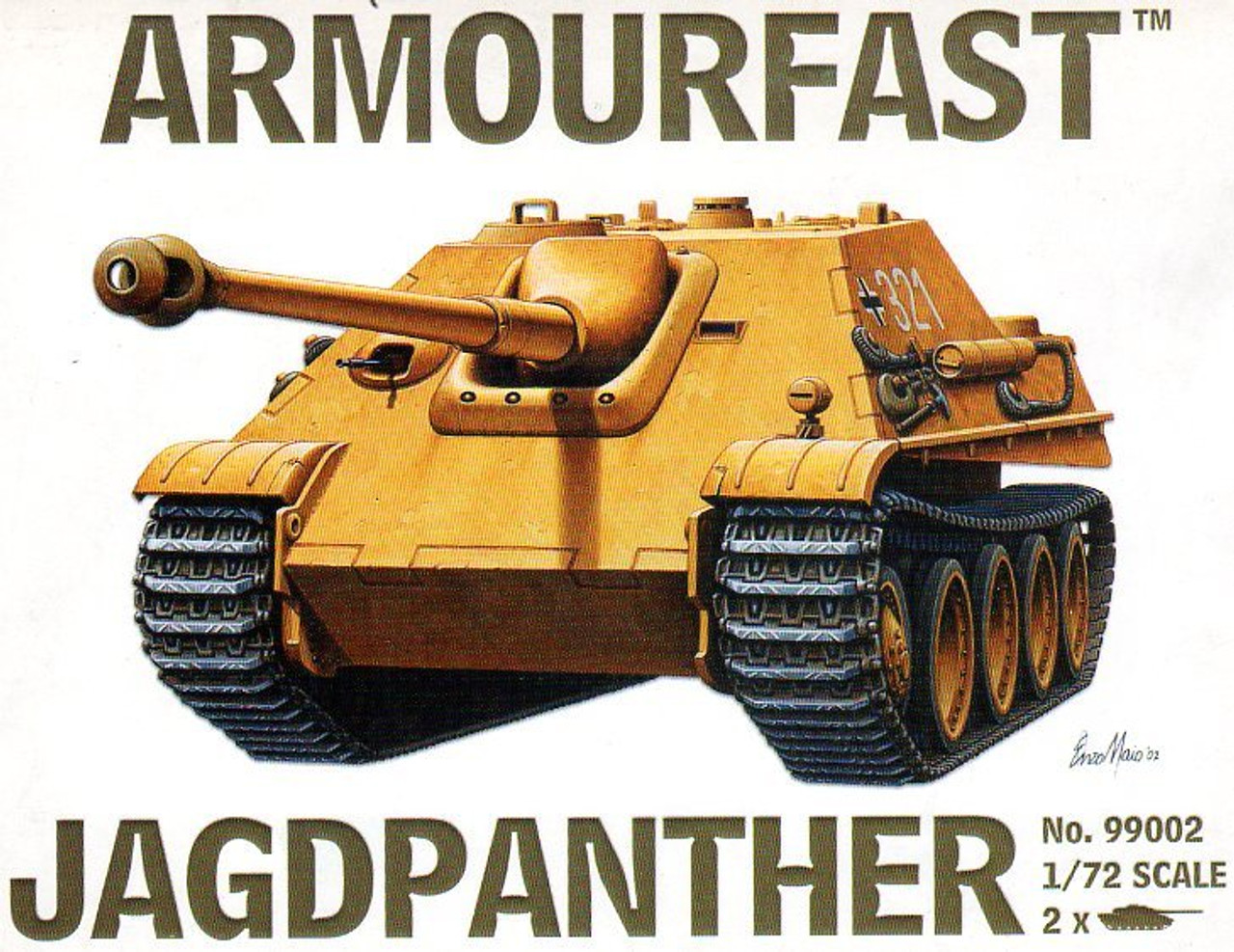 ourFast 99002 Jagdpanther Military Vehicles 1:72 Scale (AF99002)