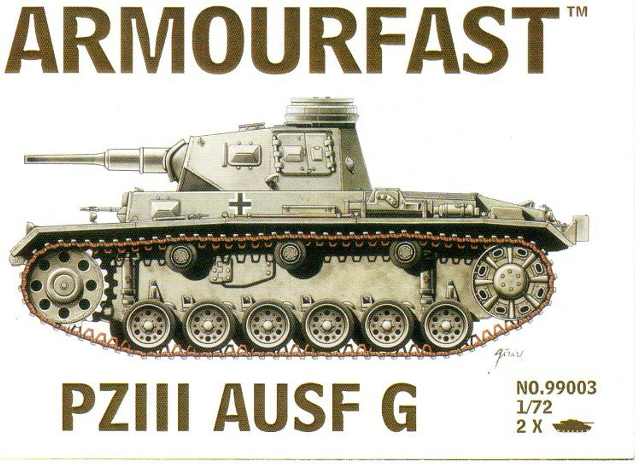Armourfast 99003 Pz III Ausf G 1:72 Scale Model Kit (AF99003)
