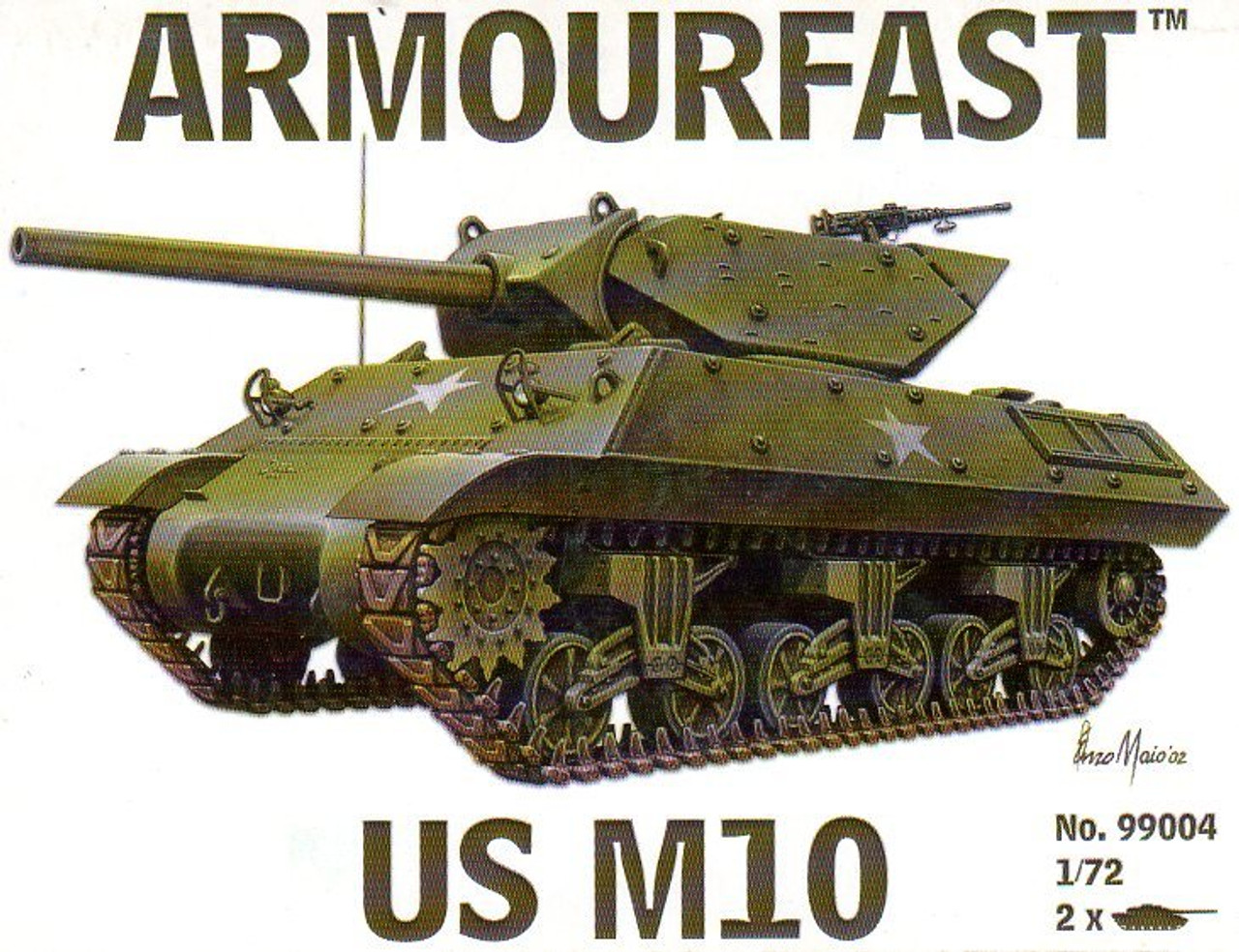 Armourfast 99004 US M10 1:72 Scale Model Kit (AF99004)