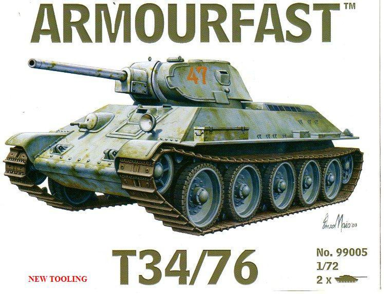 Armourfast 99005 T34/76 1:72 Scale Model Kit (AF99005)