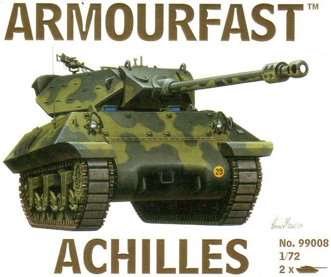 Armourfast 99008 Achilles 1:72 Scale Model Kit (AF99008)