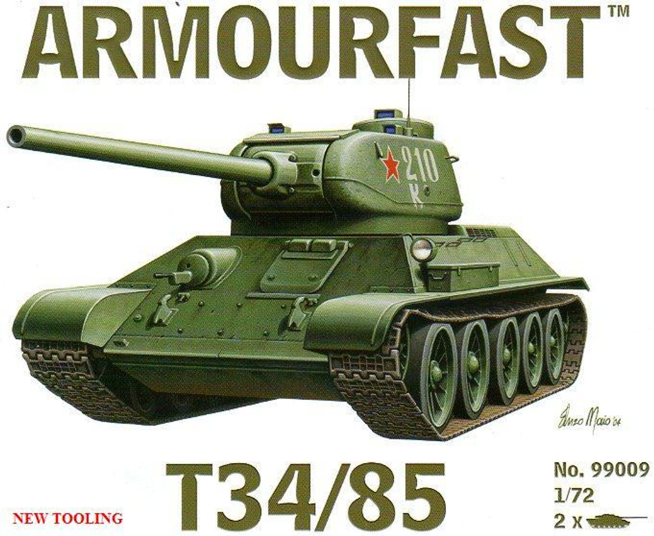Armourfast 99009 T34/85 1:72 Scale Model Kit (AF99009)