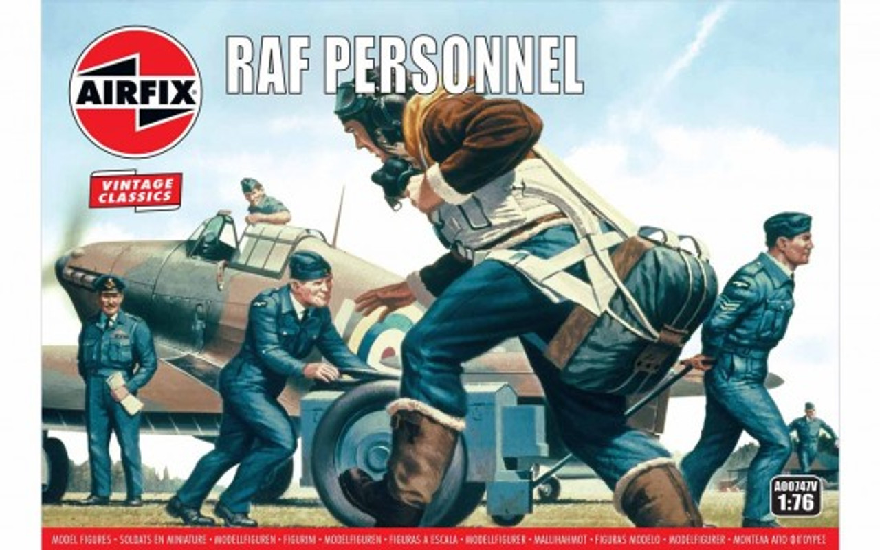 Airfix A00747V Vintage Classics RAF Personnel 1:76 Scale Model Kits