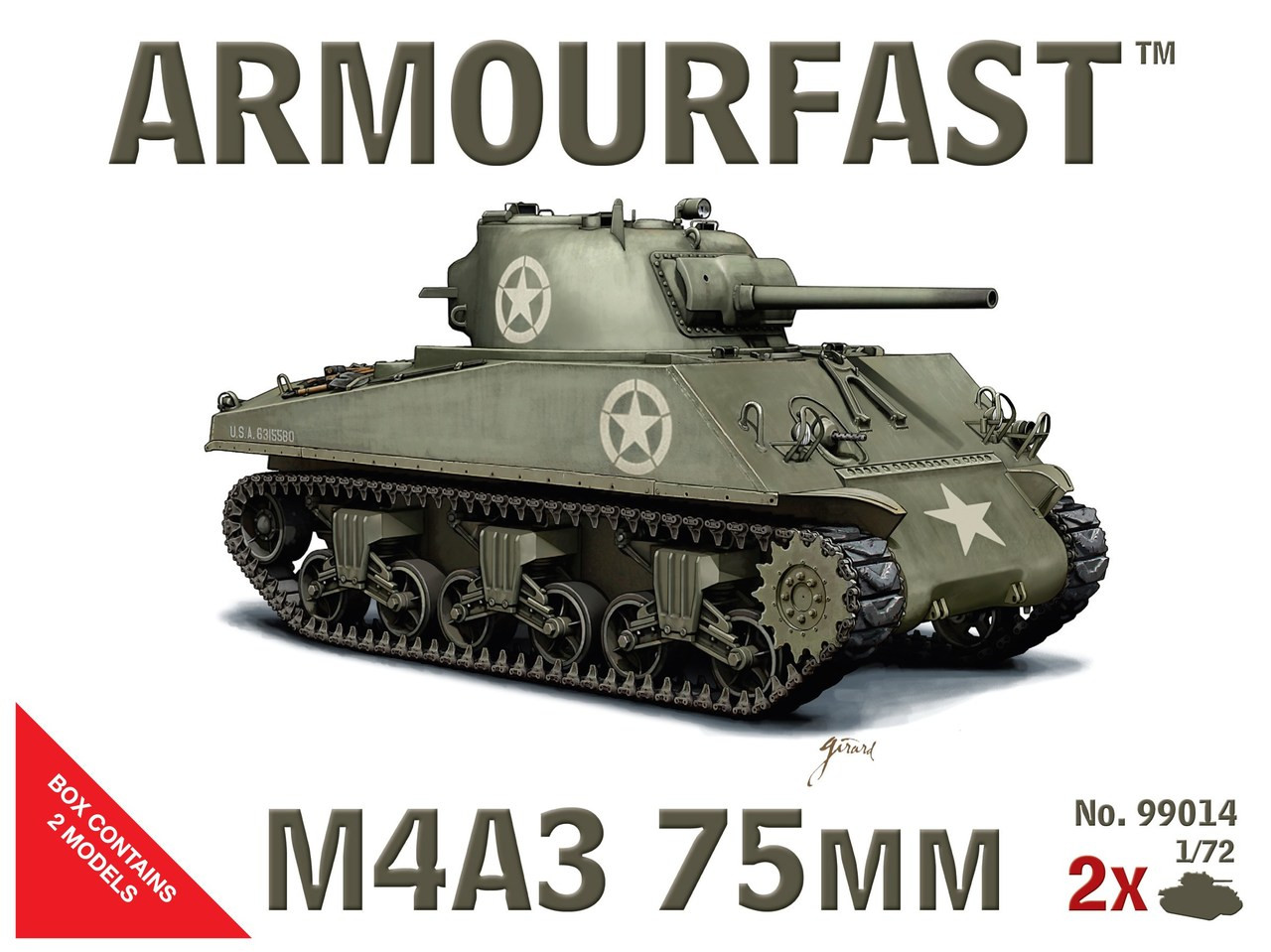 <p>Armourfast 99014 Sherman M4A3 75mm 1:72 Scale Model Kit</p>